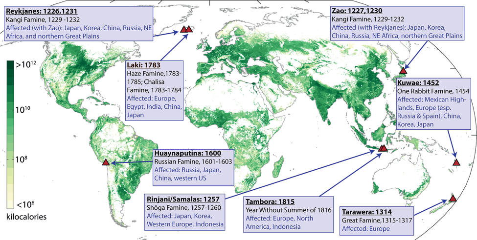 Historical impacts of volcanic forcing: famines throughout the ...